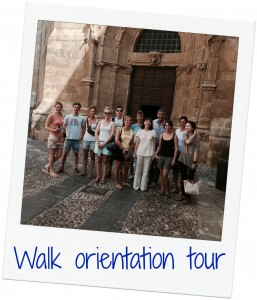 Walk orientation tour